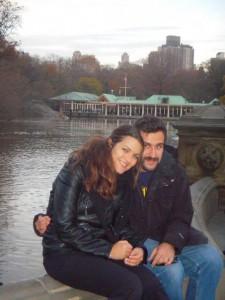 Sole Consoli with her husband Raffaele Saggio