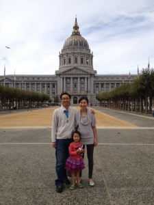 Susan Ha with her husband and daughter!