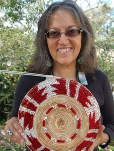 """""""What's most exciting for me is knowing that when I'm gone, this basket will live on and represent our people in a truly beautiful way.""""  – Linda Yamane, Rumsien Ohlone. Photo by Tim Thomas"""